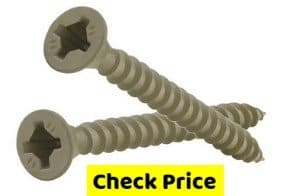 Phillips Green Deck Screws