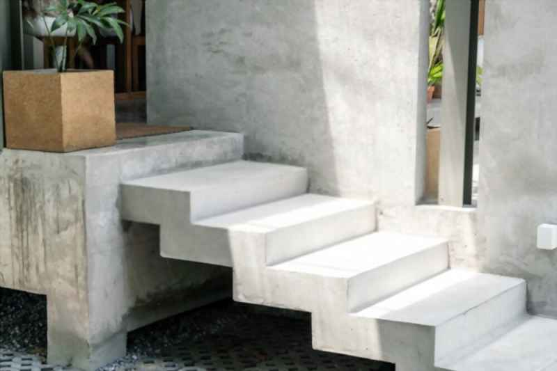 how to form concrete steps with sidewalls