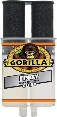 Gorilla 2 Part Epoxy Syringe