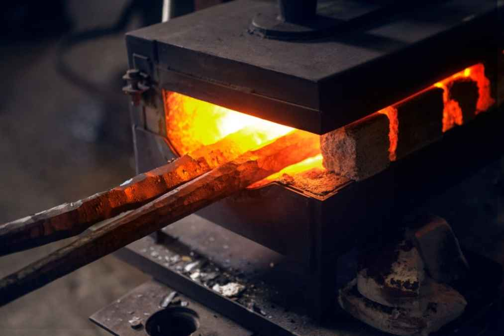 how to set up a gas forge