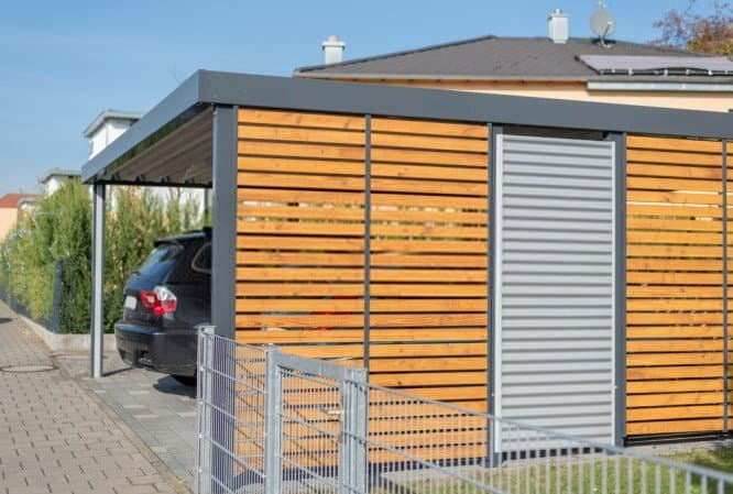 Enclosing A Metal Carport With Wood